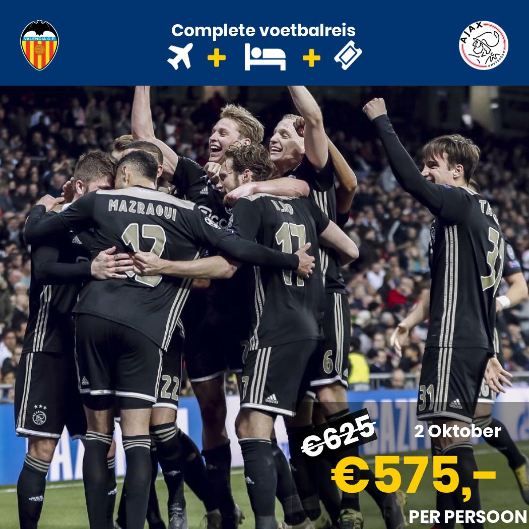 Arrangement Valencia - Ajax  (Reis via Madrid)